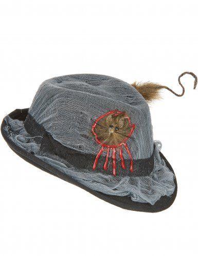 Sombrero borsalino agujero rata adulto Halloween