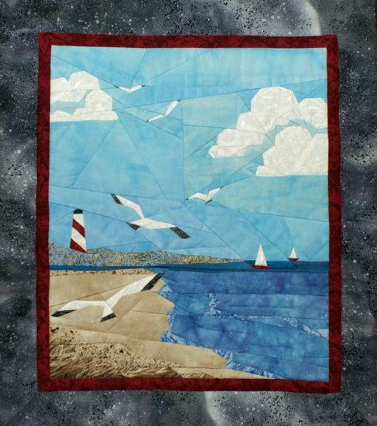 At the Beach Pieced Quilt Pattern | Landscape Quilts ...