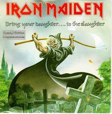 Portada Iron Maiden edicion especial bring your daughter... to the slaughter