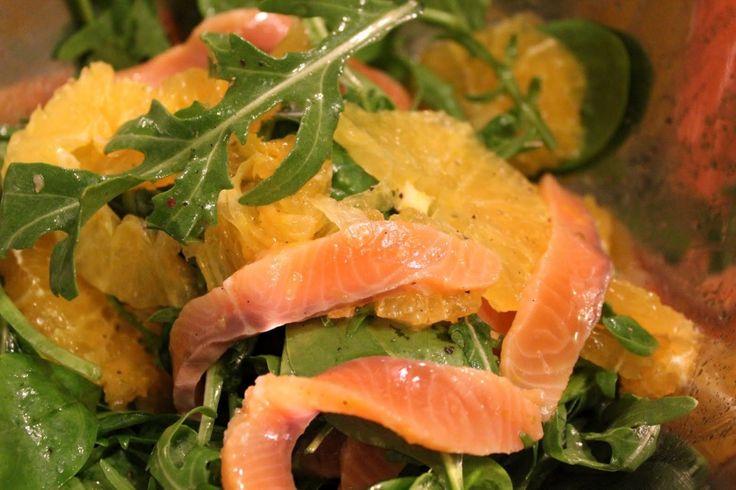 Salata cu somon si portocale