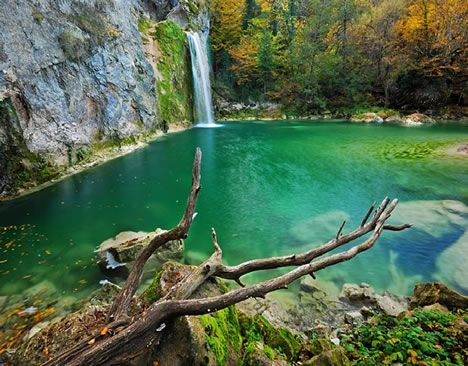 Ilica, Turkey  Does this look like a little piece of paradise? It should. Ilıca is a large resort area near Cesme, Turkey. This area is renowned for hot springs and spas, but this is the Ilıca Waterfall in Kure Mountains National Park.