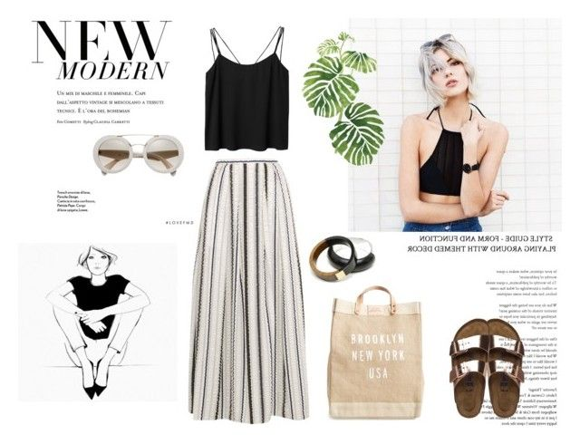 New Modern by justy-na on Polyvore featuring moda, Monki, Peter Pilotto, Birkenstock, APOLIS, Rainforest and modern