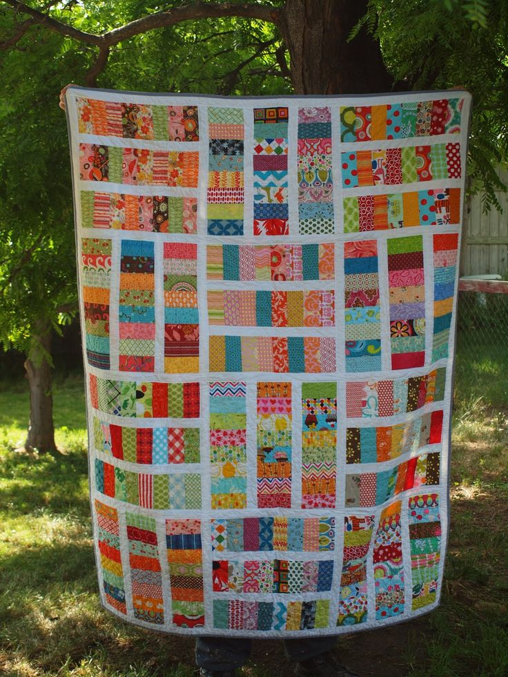 Scrappy quilt                                                                                                                                                                                 More