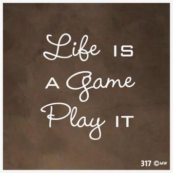 Interieursticker-muursticker Life is a game play it-317