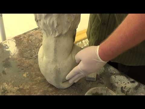 Make your own concrete statues - How to fix air bubbles and seams - YouTube