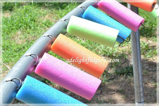 Pool Noodle - trampoline spring guards