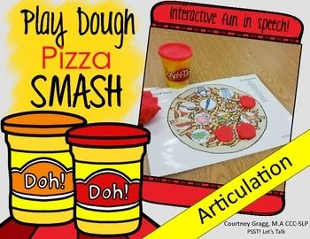 Speech Therapy: 51 Play-Doh pizza mats targeting 23 different phonemes!