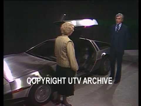 First DeLorean Car prototype showcased in UTV studio in 1980 Gloria Hunniford with John Delorean as the first DeLorean Car prototype showcased in UTV studio in 1980