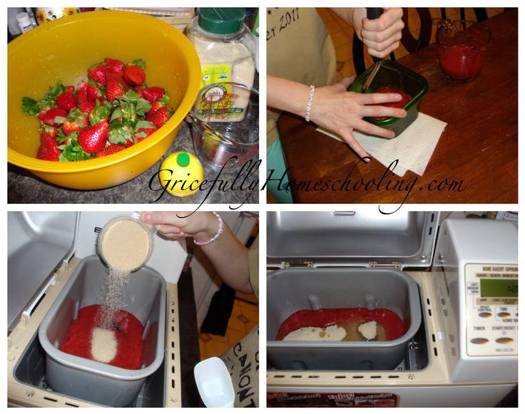 Strawberry jam from a breadmaker