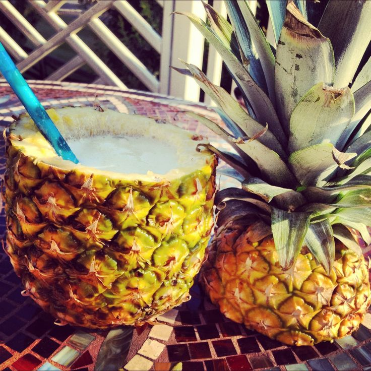 You may not be able to go on holiday this year, but you can bring a splash of the exotic into your summer. Forget using normal cups, why not try making your own pineapple cup?  http://www.cookingchanneltv.com/how-to/how-to-turn-a-pineapple-into-a-drinking-vessel.html