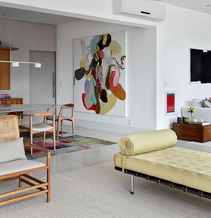 Apartamento com vista primorosa e decoração informal - Casa