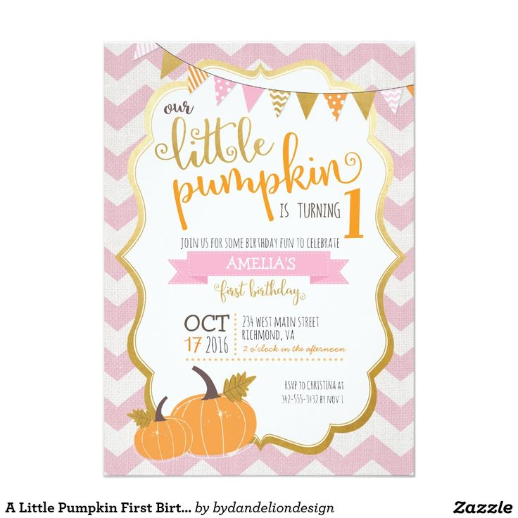 176 best birthday party images on pinterest birthday invitations a little pumpkin first birthday invitation filmwisefo