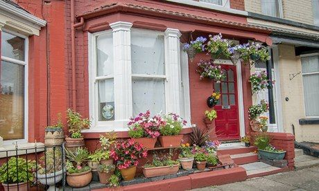 John Lennon's first home at 9 Newcastle Road in Wavertree, Liverpool, which has sold for £480,000 at auction in the Cavern Club. 2013   Photograph:...