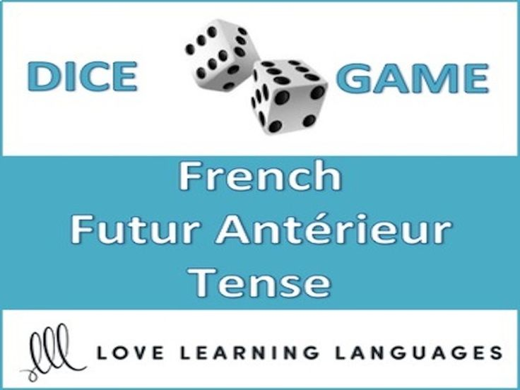 This is an easy to play 30 minute dice game to practice the French futur antérieur tense.<br /> <br /> My high school students love this game, and it can get very competitive if you decide to play it as a race (details are explained with the activity). <b...