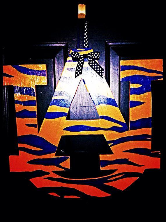 Auburn Wooden Door Hanger by TheButterbean1 on Etsy, $28.00