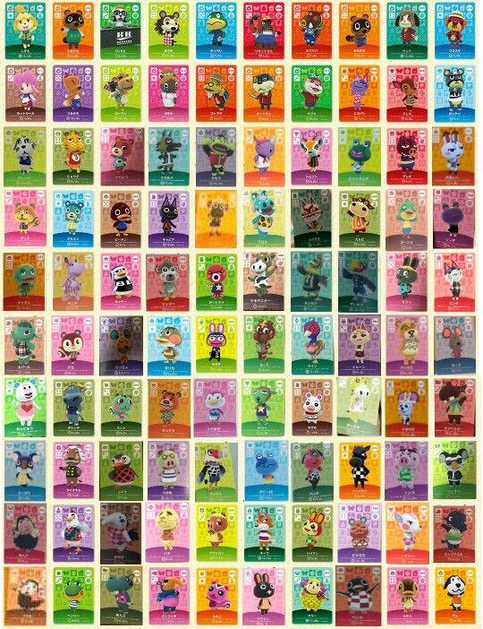 Animal Crossing Happy Home Designer Amiibo Cards List