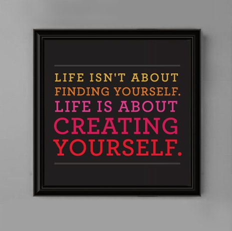 Graphic Wall Art for Teen Girl's Bedroom 8x8 Life Is About Motivational Quote. Co it with a mirror