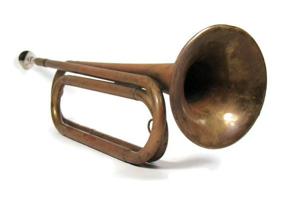 US Regulation Bugle  Antique Brass Instrument  by InUseAgain, $74.95