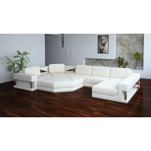 Modern Leather Sectional Sofa - 2315