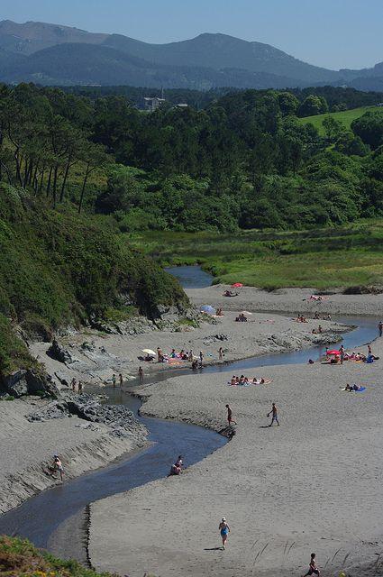 Playa de Frexulfe. Navia. Asturias.