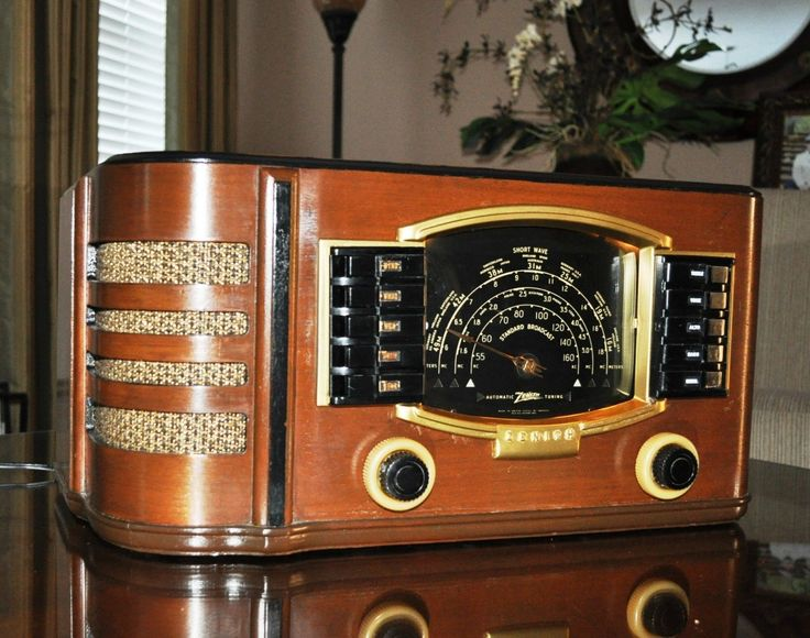Restored Antique Zenith 7S633 Vintage Old Wood Tube Radio Works See Video | eBay