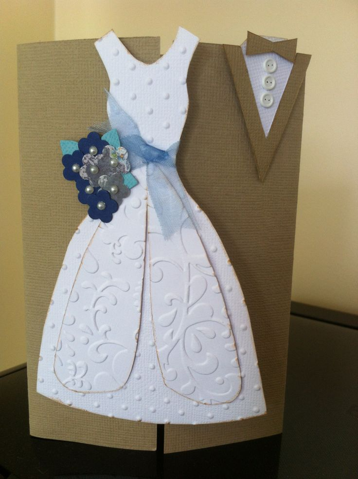 Another beautiful wedding card, inspired by Pinterest.