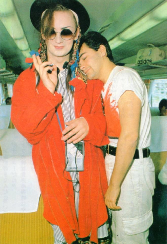 Boy George and Jon Moss. A love that dared not speak its name.