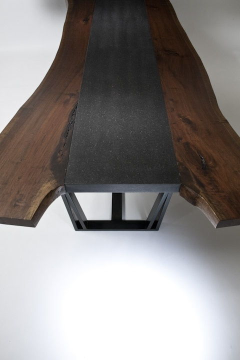 Reclaimed Walnut Wood Dining Table