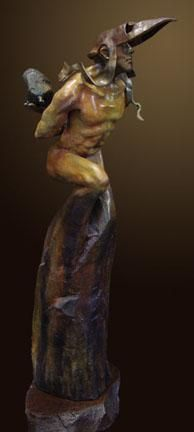 """Bearing a Thought Past"" by Renzo Bronze Sculpture Edition Size: 55 SN Size: 31""h x 8""w x 15""d"