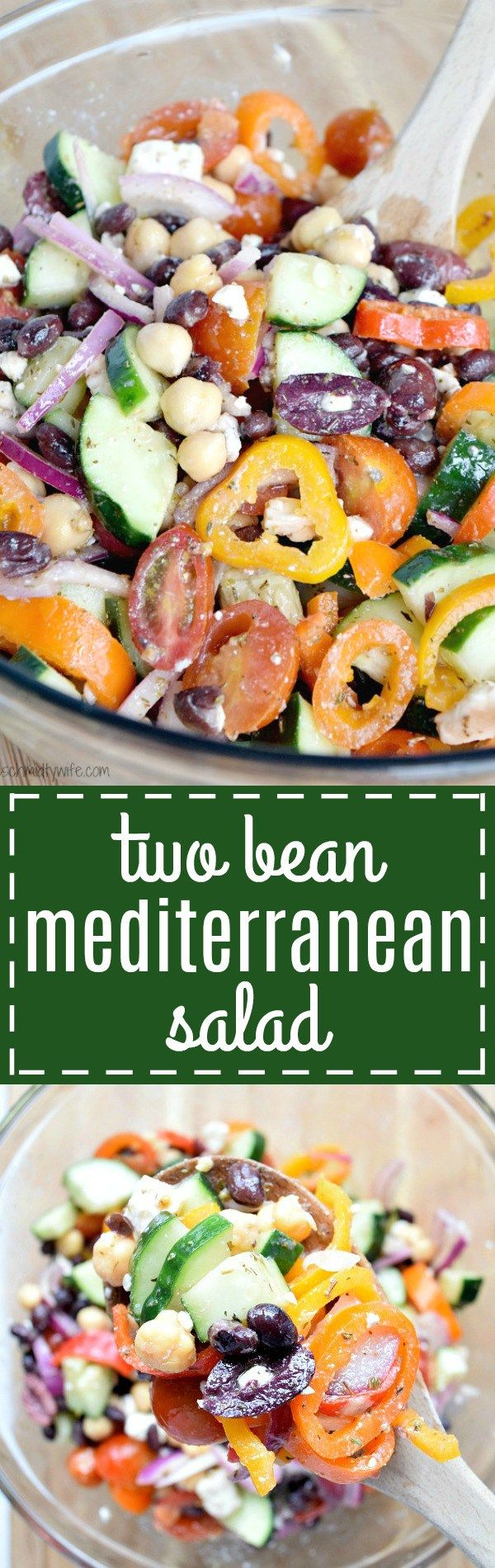 Two Bean Mediterranean Salad | The Schmidty Wife