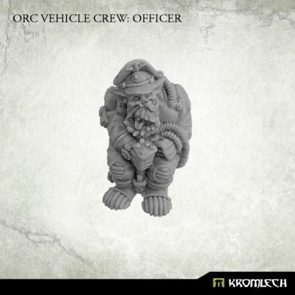 This set contains one resin Orc Vehicle Crew: Officer. It can be used to convert existing orc vehicles or build completely new ones. Designed for 28mm heroic scale. Please note that this model has no seat. Although described as officer this model is also perfect as a driver.