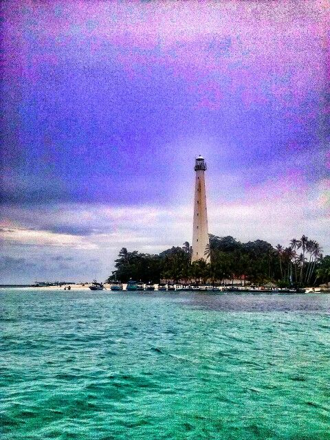 Lighthouse at Lengkuas Beach, Belitung.