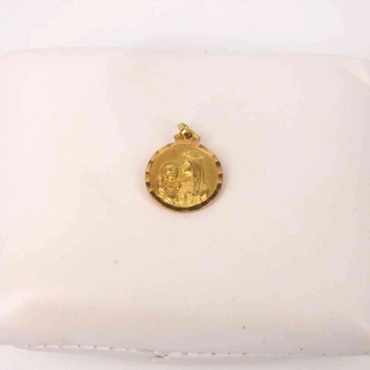 #Medalla# virgen#y corazón#de jesus# de oro# de segunda mano# E269411B#segundamano#