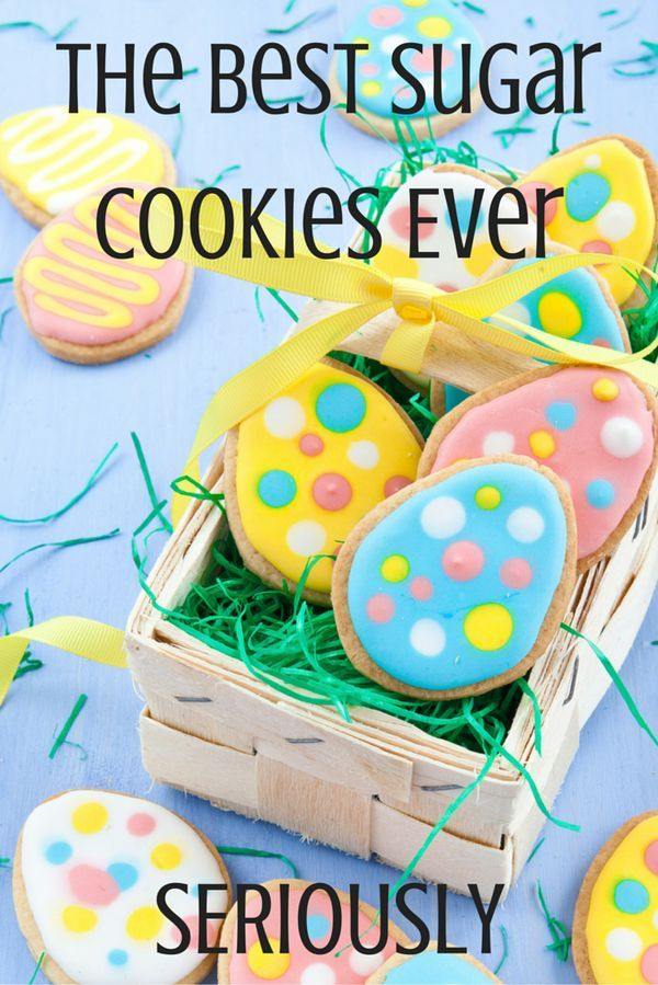 Make these sugar cookies for EVERY occasion! The perfect canvas for a beautiful frosting design, these cookies are buttery and delicious. Make them for gifts, mother's day, a birthday party or even Easter Baskets!