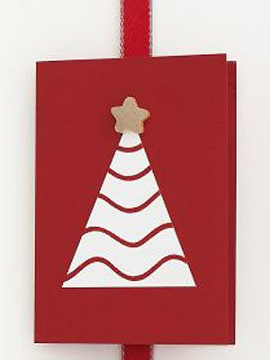 Make Christmas tree and wooden star card :: allaboutyou.com