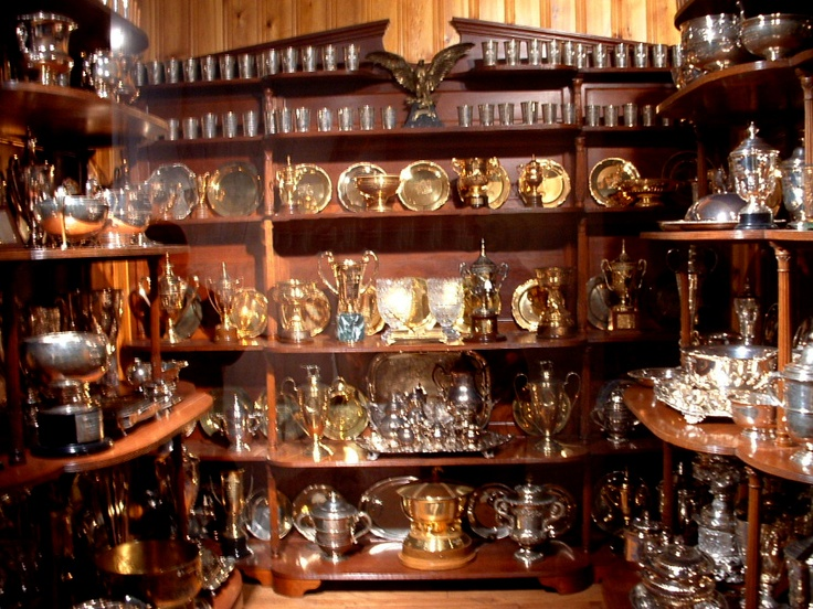 Calumet Farms Trophy Collection, Kentucky Horse Park. Now that's a lot of #horseracing #trophies! #DarkHorseBet