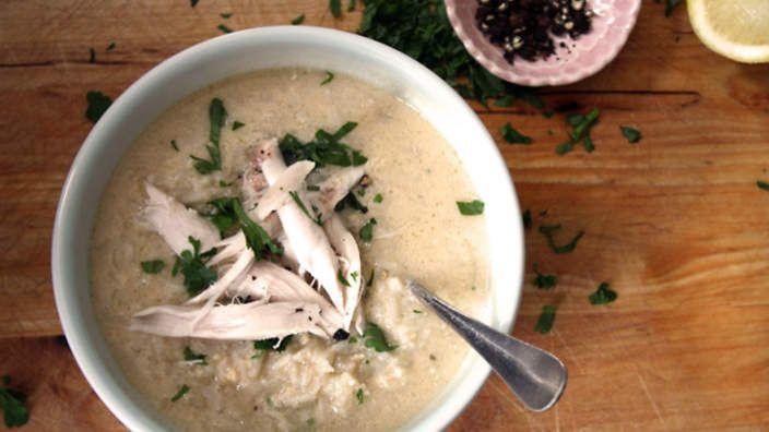 Egg and lemon soup (avgolemono) recipe : SBS Food