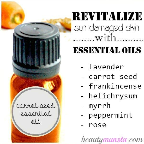 List of powerful essential oils for sun damaged skin repair & nourishment