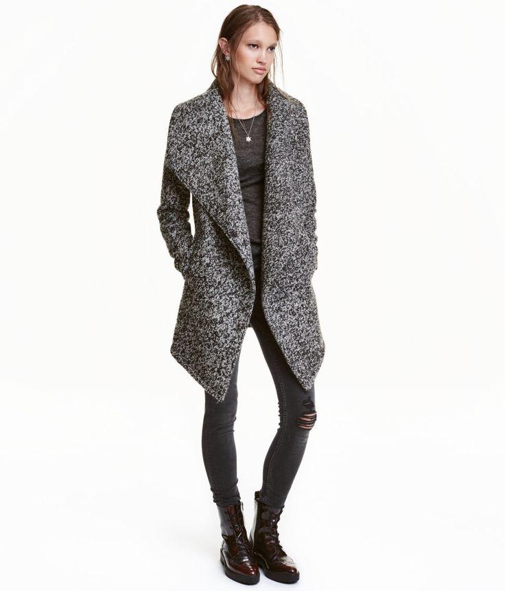 Wool-blend Bouclé Coat | Warm in H&M