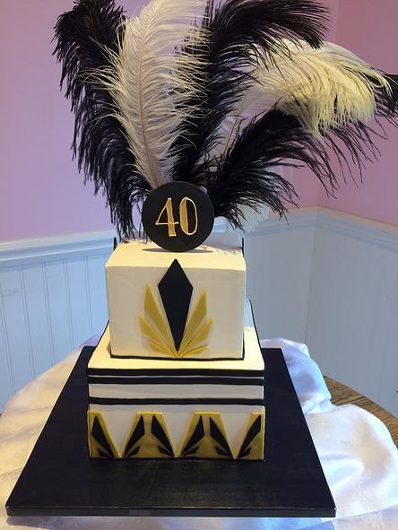 Roaring 20s Great Gatsby Cake- SweetPea Cakes, Bakery, Crystal Lake | CUSTOM CAKES