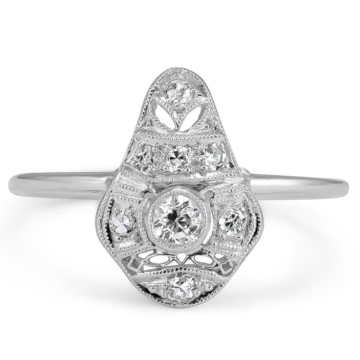 14K White Gold The Taurus Ring from Brilliant Earth, $1200.