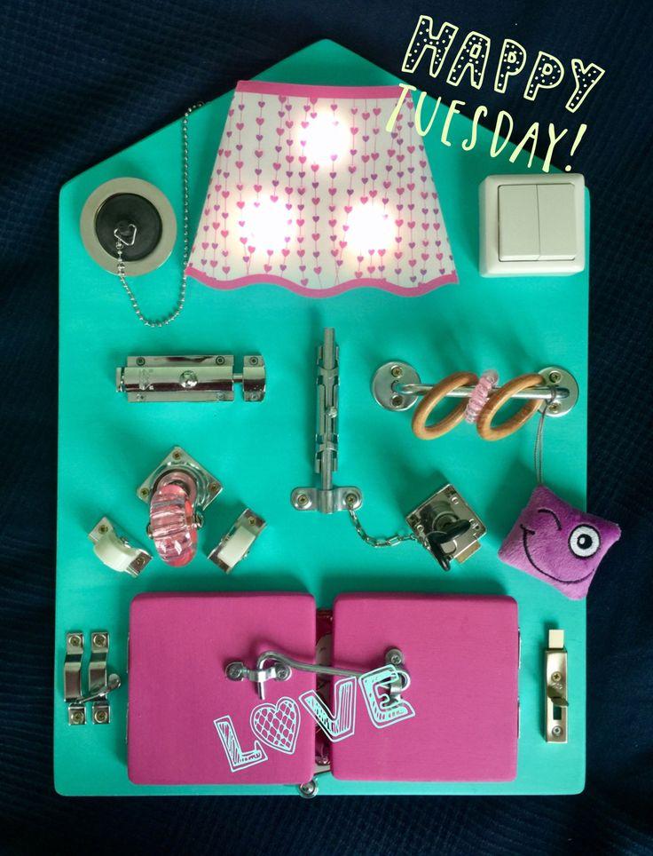 Бизиборд / Bright and stylish busyboard,  busy board, activity board, sensory board, montessori educational toy, wooden toy, latch board, lock box, box for child, бизиборд, бизи борд, игровая доска,   интерактивная доска, доска монтессори, игры монтессори, развивающая доска, развивающие игрушки