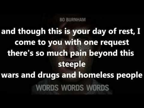 Bo Burnham Rant from the album Words Words Words