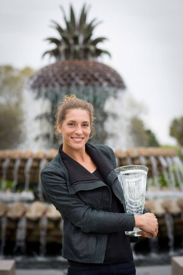 All smiles from 2014 Cup Champion, Andrea Petkovic at Waterfront Park in historic Charleston, SC.