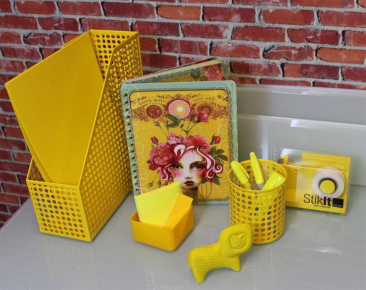 Yellow Office Supplies   Urban Girl Blog