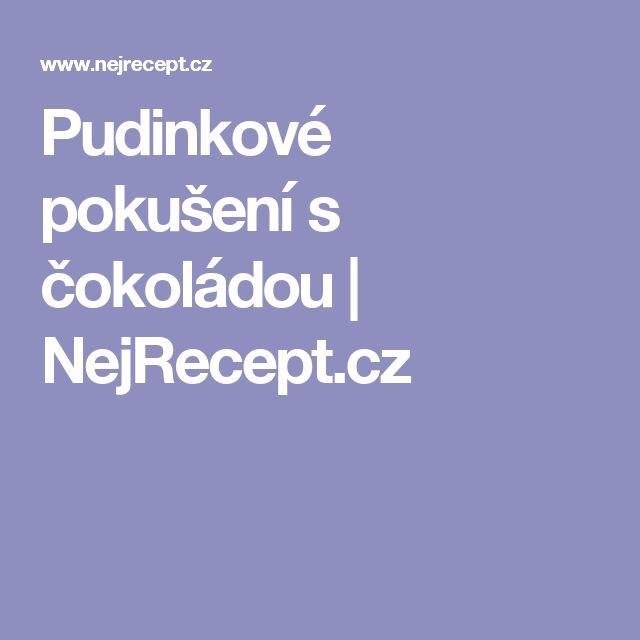 Pudinkové pokušení s čokoládou   NejRecept.cz