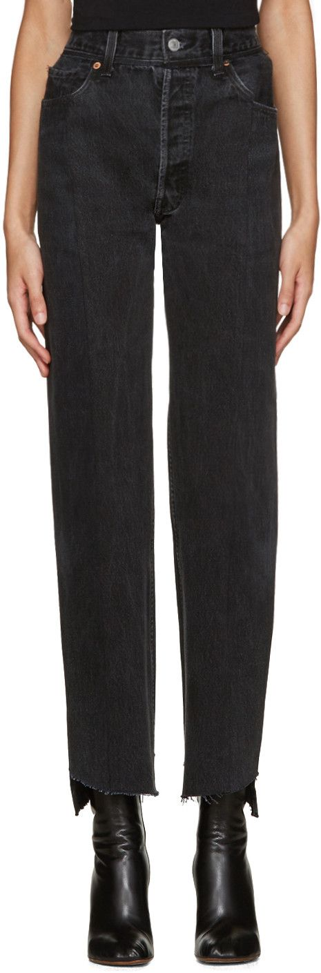 Vetements - Black Reworked Jeans