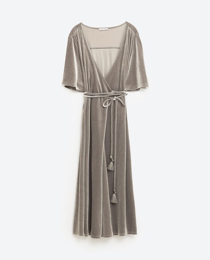 Image 8 of CROSSOVER VELVET DRESS from Zara