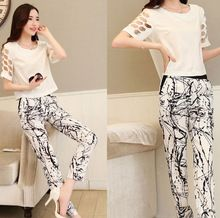 D50806M 2014 FASHION EUROPE LONG PANTS WOMAN CHIFFON SETS Best Buy follow this link http://shopingayo.space