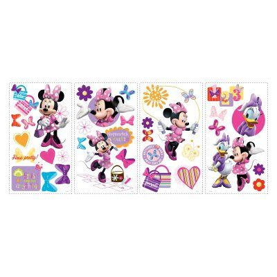 Mickey and Friends - Minnie Bow-Tique Peel and Stick Wall Decals - RMK1666SCS